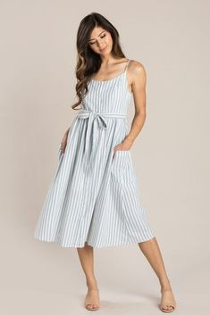 1945529b2a Elena Mint Green Striped Midi Dress. Shop the Elena Mint Green Striped Midi  Dress - boutique clothing featuring fresh