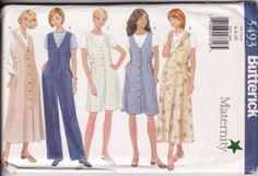 MATERNITY Womens Sewing Pattern Easy Butterick by retrochick66, $6.25