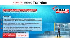 Rudra IT Solutions is one of the Promote leading IT Services and corporate training solutions along with IT online training conservatory, with latest Industry  offering technology.   Oracle Apps Demantra online Training in Hyderabad,USA, UK, Australia, New Zealand, UAE, Saudi Arabia, India, Pakistan, Singapore, Kuwait   http://www.training.rudraitsolutions.com/oracle-demantra.html