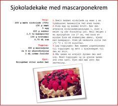 Sjokoladekake med mascarponekrem Raspberry, Fruit, Food, Essen, Meals, Raspberries, Yemek, Eten