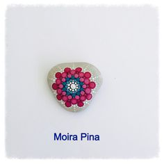 Handpainted Mandala Stone Heart Shaped Mandala by MOIRAPINA
