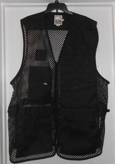 NWT Mens Vintage 10X Mesh Shooting Hunting Skeet Vest Black Size 3XL Made in USA #10X