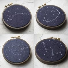 Zodiac Constellation Hand Embroidered Stars of by MiniatureRhino