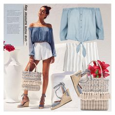"""""""... one more summer day"""" by drn57 ❤ liked on Polyvore featuring House of Harlow 1960, White House Black Market, River Island, Joie and Sam Edelman"""