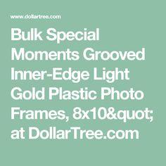 bulk special moments grooved inner edge light gold plastic photo frames 8x10 at