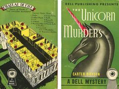 Dell Books 16 - Carter Dickson - The Unicorn Murders (with mapback)