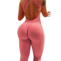 2020 Sexy Women's Tracksuit Yoga Pants High Waist Gym Play suit Push up Slim Sport Backless Top Running Sportswear Soft Jumpsuit Sexy Outfits, Sexy Dresses, Backless Top, Backless Jumpsuit, Looks Country, Fit Women, Sexy Women, Women's Leggings, Workout Leggings