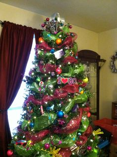 80s tree 2014 - 1980s Christmas Decorations