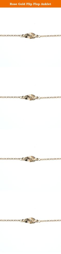 Rose Gold Flip Flop Anklet. Product Details: 9.5″ Anklet with 1″ Extender Tail. 5/8″ Flip Flop. Rose Gold Plated over brass chain & white metal charm. Lobster Claw Closure & Made in USA Tag. Made in America with Love. Comes on a R&R Card. Product Care: Store at room temperature, preferably in a jewelry box. Do not wear item in the ocean or shower. Put jewelry on after applying lotions, perfumes, or hairsprays. Clean with a polishing cloth- do not use jewelry cleaner, as it will take the...