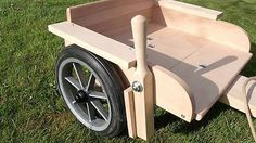 NEW Traditional pine wood hand brake