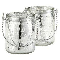 Silverlight Mercury Glass Tealight Holder