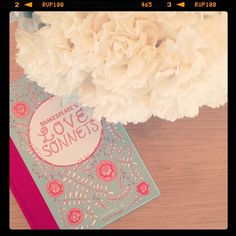 Gorgeous photo by @camillestyles, featuring Caitlin Keegan's illustrated book of Shakespeare's Love Sonnets.