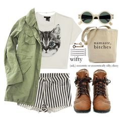 I'm just an ordinary cat by tania-maria on Polyvore featuring Forever 21, H&M, Home Decorators Collection and philosophy