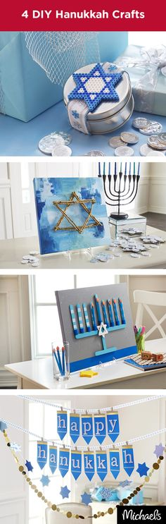 Celebrate the Festival of Lights with these fun Hanukkah crafts. These are easy to make and fun for the whole family. Get everything you need from your local Michaels store and start crafting!