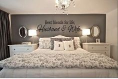 Are you and your husband or wife BFF's for life? Than this is the perfect Best Friends For Life Husband & Wife Wall Art for your romantic bedroom ideas. #couples #MasterBedrooms