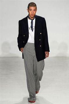 Palmiers du Mal Menswear Spring Summer 2017 New York Runway Fashion, Fashion News, Fashion Show, Mens Fashion, Mode Masculine, Bald Men, Live Fashion, Dapper, Fashion Photography