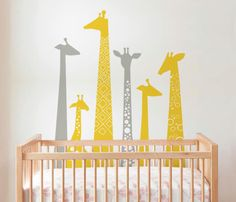 Giraffes Wall Decals. Safari theme for Nursery by TikitiWallDecals, $79.00