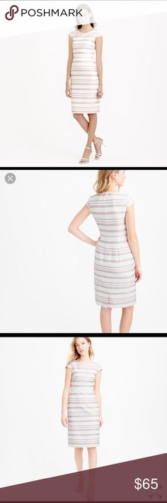 "Tall double stripe cap sleeve J. Crew dress. Like new dress perfect for any occasion.It is a fitted silhouette, falls above or on the knee. 43 3/4"" from high point of shoulder. J. Crew Dresses Midi"
