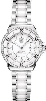 Tag Heuer Formula 1 White Diamond Dial Steel and Ceramic Ladies Watch WAH1313.BA0868