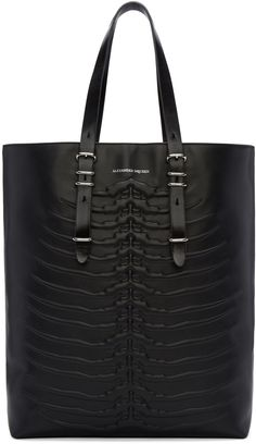 Alexander McQueen: Black Rib Cage Tote 1395 EUR. $1795 on Ssense.