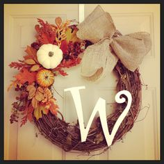 My DIY Fall Wreath! Love this time of year!