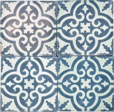 Moroccan tile bathroom floor