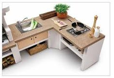 Bildresultat för outdoor küche holz Barbecue, Office Desk, Home And Garden, Furniture, Smokers, Home Decor, Portion Plate, Kitchen Wood, Pictures