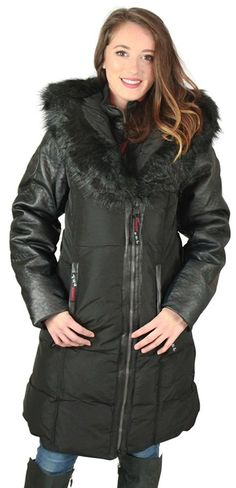Canada Weather Gear Women's Puffer Coat with Lush Faux Fur Trim * Quickly view this special  product, click the image : Plus size coats