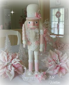 My nutcracker make over - from red and black to pink and white <3                                                                                                                                                                                 More