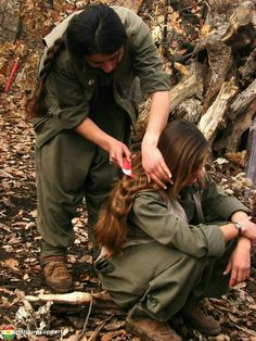 Kurdish female fighter peshmarga they are anti isis and Shiite terrorists