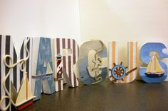 Decorative Paper Mache Wall Letters - via Craftsy