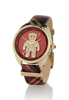 Tartan Crazy Bear Watch | Vivienne Westwood