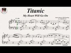 Titanic (My Heart Will Go On) - Celine Dion, Piano - YouTube