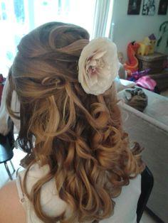 Junior bridesmaid hair style for brooke