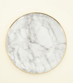 Shop Dark Grey Marble Effect Plate. Discover the latest trends at New Look. Marble Plates, Marble Effect, Dark Grey, Home Accessories, Home Furniture, Room Decor, Look, Uni, Home Goods Furniture
