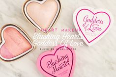 I heart make up (make up revolution) goddess of love and/or godess of faith highlighter and blushing hearts blush