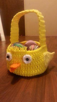 #Crochet Easter chick #Easter #Basket #Tutorial (+playlist)