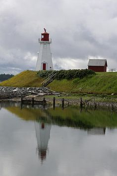 Mulholland Point Lighthouse, near the southern end of Campobello Island, New Brunswick, Canada