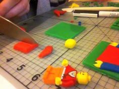 How to make lego from fondant