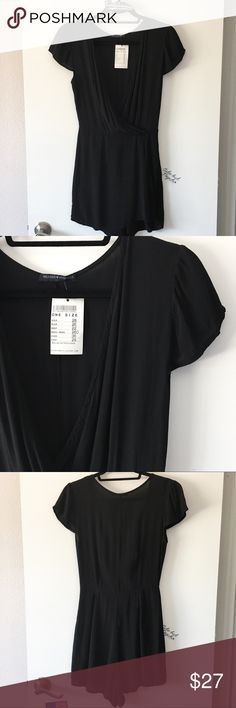 BNWT black Hannah romper Slightly see through. Fraying spot under zipper but zipper still works perfectly.   🌟🌟🌟🌟🌟 Rating 💯 Shop with confidence  📦 Ship same day or next day 💌 Free Brandy stickers with purchase  🛍 Bundle and save ⛔️ Trades ⛔️ Lowball offers Brandy Melville Pants Jumpsuits & Rompers