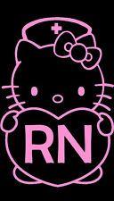 Hello Kitty Nurse Decal Hello Kitty Rn Decal Hello Kitty Window Car