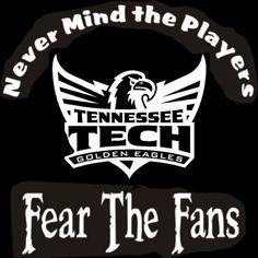 Custom Screen Printed T-Shirt Tennessee Tech Golden Eagles Never