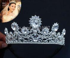 Wholesale Bride Princess Royal Ornate Vintage Diamond Crown New Wedding Bridal Hair Accessories Jewellery, Free shipping, $36.96-45.92/Piece | DHgate