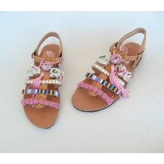 Pink sandals/boho/indie/hippie/gypsy Sandals ($76) ❤ liked on Polyvore featuring shoes, sandals, gladiator & strappy sandals, grey, women's shoes, gray sandals, strappy sandals, roman gladiator sandals, strappy leather sandals and greek leather sandals