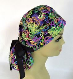 Women's Bouffant Surgical Scrub Hat or Cap  by ScrubsbyEdie