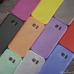 Full Cover Ultra-Thin Matte Back Soft Coloful 1x Case fr Samsung Galaxy S7 Edge