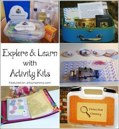 Top 10 Ways to Explore and Learn with Activity Kits - Keep kids busy this Summer with these hands-on learning activities.