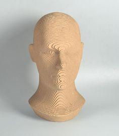 Human Head model  DIY cardboard KIT