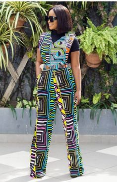 The Set Description: ▪ Ankara fabric print.  ▪ 100% cotton print/fabric.  All garments are custom made to your exact fitting, kindly note your Waist, Bust, Hip and Height measurements when checking out. Kindly contact us for any question you may want to asking.