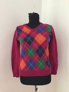GANT Merino Wool checks pattern sweater women Sz S/M dark pink Merino Wool Sweater, Pink Sweater, Thrifting, Sweaters For Women, Turtle Neck, Hoodies, Clothes For Women, Dark, Pattern
